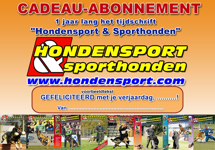 hondensport en sporthonden cadeau abonnement